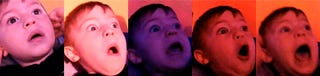 Illustration for article titled Two-year-old kid flips out when he watches fireworks for the first time