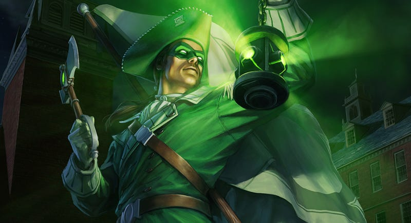 Illustration for article titled This Week's Infinite Crisis Costume Is Patriot Green Lantern