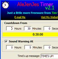 Illustration for article titled Download of the Day:  AleJenJes Timer