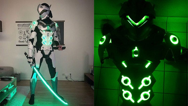 Illustration for article titled Overwatch Genji Cosplay Is On Another Level