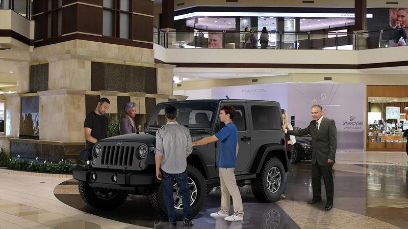 Illustration for article titled Campaign Setback: Tim Kaine Is Participating In A Mall Sweepstakes And Has To Keep One Hand On A Jeep Wrangler For The Next Three Days