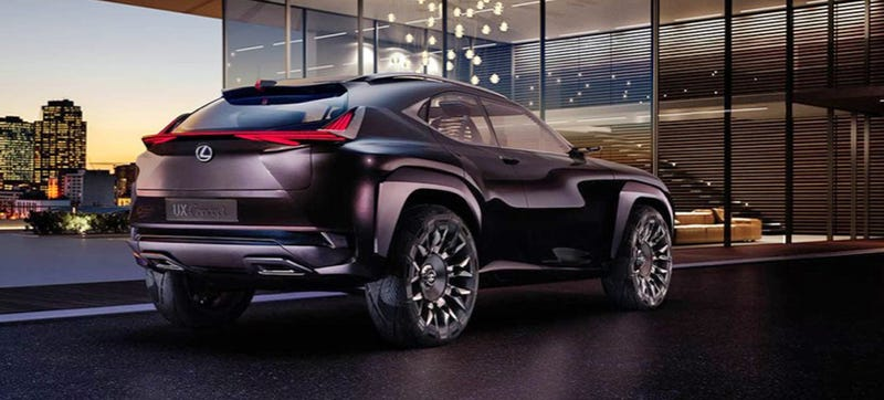 Illustration for article titled The Lexus UX Concept Is Your Starkly Beautiful Brutalist Totalitarian Future