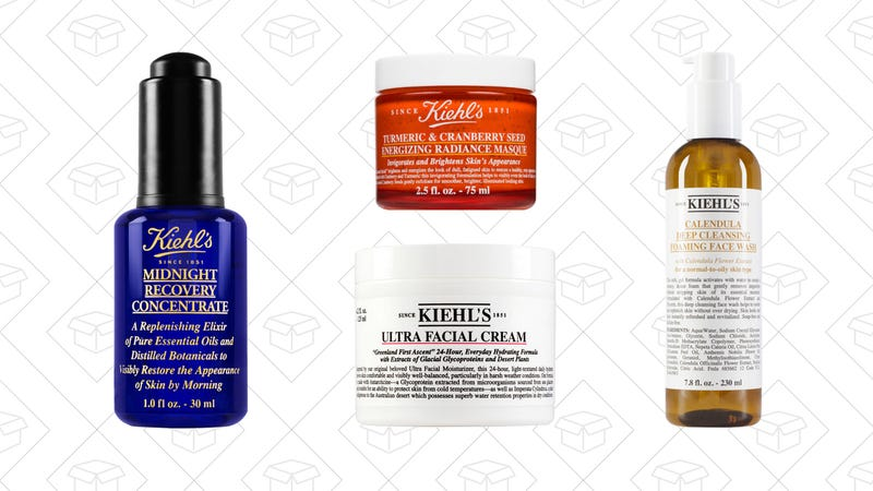 Midnight Recovery Concentrate, $46 | Tumeric & Cranberry Seed Energizing Radiance Masque, $32 | Ultra Facial Cream, $48 | Calendula Deep Cleansing Foaming Face Wash, $29