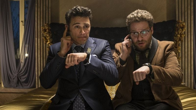 Illustration for article titled North Korean tensions can now be blamed on Seth Rogen and James Franco
