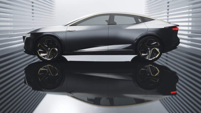 Illustration for article titled The Nissan IMs Concept Is An Electric Sport Sedan That Looks Pretty Sharp
