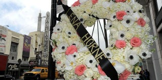 A wreath at Lena Horne's star on the Walk of Fame (Charley Gallay/Getty Images)