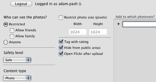 Illustration for article titled Upload Pics to Flickr from iPhoto with FFXporter
