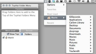 Illustration for article titled TopHat Folder Menu Gives You Quick Access to Your Most Used Folders in the Menu Bar