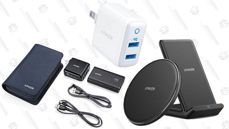 Anker PowerPack | $50 | Amazon | Usa el código ANKERPP1Anker Qi Pad + Soporte Qi + Cargador PowerPort 2 | $40 | Amazon | Añade ambos al carrito y usa el código COMBOAAAGráfico: Shep McAllister