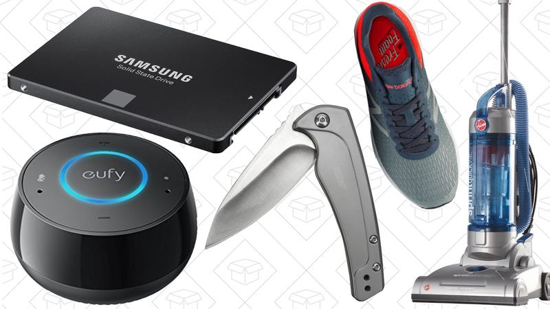 Illustration for article titled Today's Best Deals: Anker Smart Speaker, SSDs, New Balance Shoes, and More