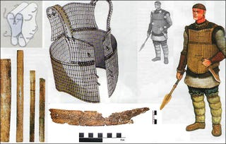 Illustration for article titled Remarkable 3,900-Year-Old Suit Of Bone Armor Found In Siberia