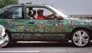 Illustration for article titled Circuit Board Car: Rollin' With a Supergeek