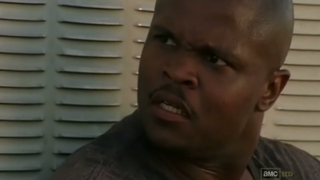 """Theodore """"T-Dog"""" Douglas (played by Irone Singleton) set the unfortunate standard for many African-American male charcters on The Walking Dead.AMC's The Walking Dead screenshot"""