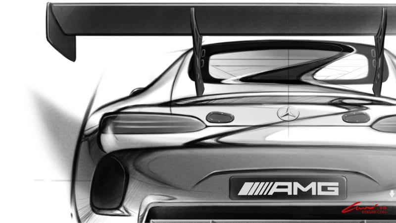 Illustration for article titled Of Course The Mercedes-AMG GT Looks Better As A GT3 Race Car