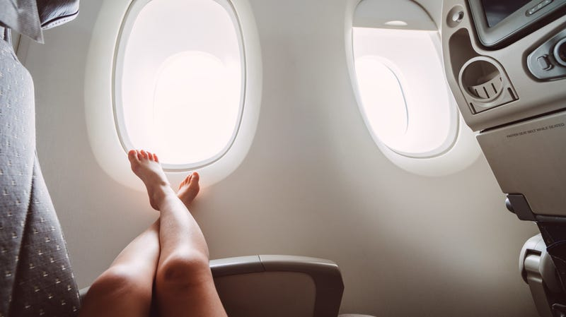 How to Courteously Remove Your Shoes on an Airplane
