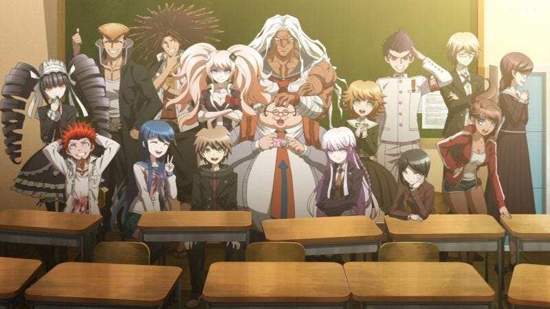 The cast of Danganronpa: Trigger Happy Havoc