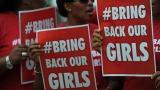 Nigerian women living in Kenya demonstrate in Nairobi May 16, 2014, to press for the release of Nigerian schoolgirls kidnapped in nothern Nigeria by members of Boko Haram.TONY KARUMBA/AFP/Getty Images