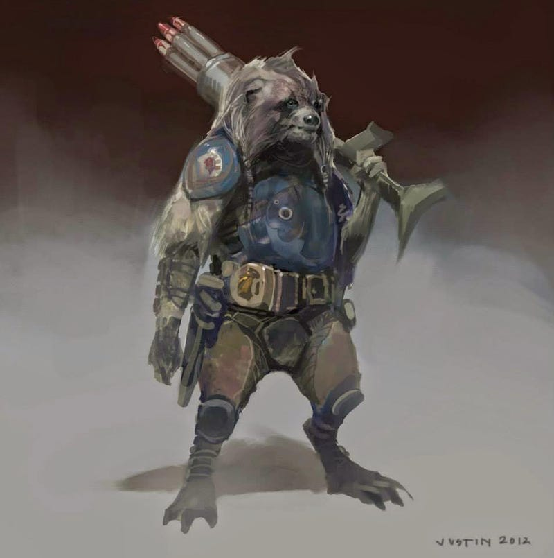 Illustration for article titled Guardians Concept Art Shows Rocket Could Have Looked Way More Grizzled