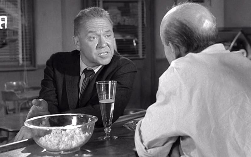 "Richard Erdman in the 1963 episode of The Twilight Zone, ""A Kind of Stopwatch"""