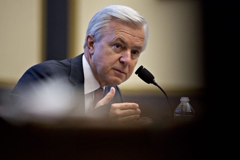 John Stumpf, chief executive officer of Wells Fargo & Co., speaks during a House Financial Services Committee hearing in Washington, D.C., on Sept. 29, 2016. Andrew Harrer/Bloomberg via Getty Images