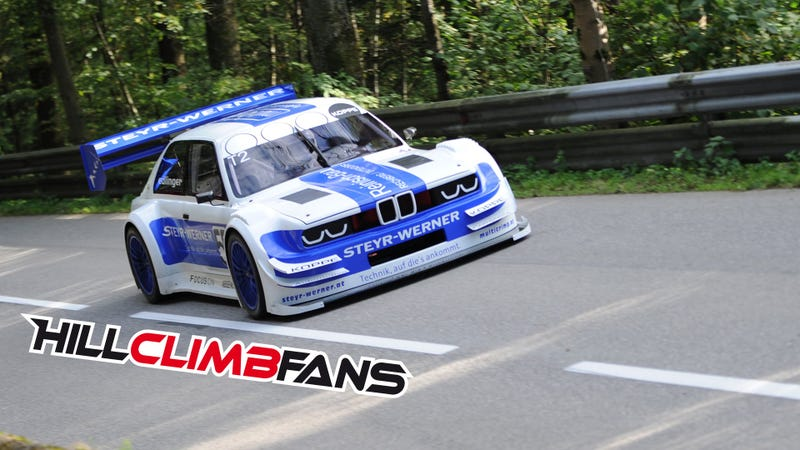 Illustration for article titled Incredible Sounding BMW Smashes Hill Climb Record