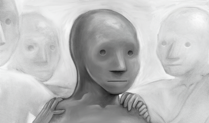 Artist's interpretation of NPC Wojak