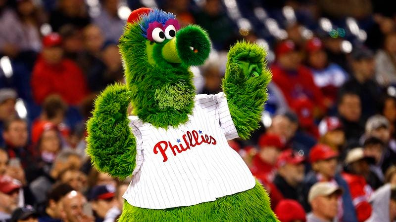 Illustration for article titled Phillie Phanatic Inducted Into Italian American Sports Hall Of Fame