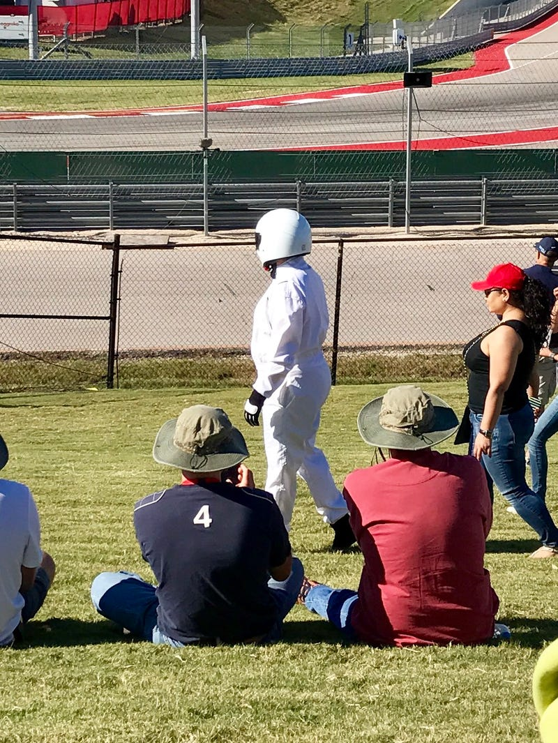 Illustration for article titled Fat American Stig Sighting at COTA