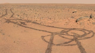Illustration for article titled NASA Drew This Giant Penis on the Surface of Mars