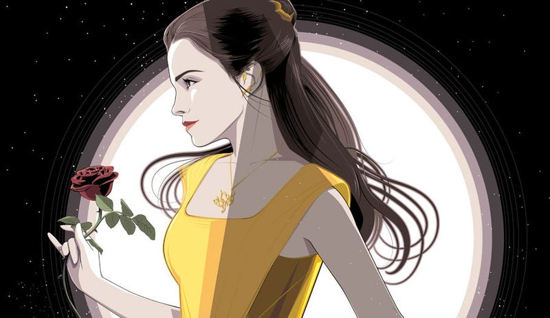 Emma Watson as Belle, interpreted by artist Craig Drake for an upcoming art show. All Images: Cyclops Print Works