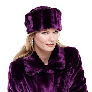 Illustration for article titled Purple fur hat?  Purple fur hat.