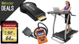 Illustration for article titled The Easiest Treadmill Desk, Cleaner Floors, Smarter TVs [Deals]