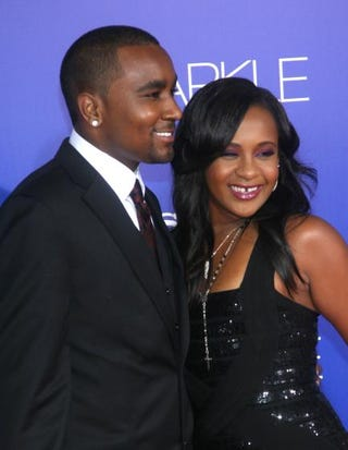 Bobbi Kristina Brown arrives with now-husband Nick Gordon at the Los Angeles premiere ofSparkle at Grauman's Chinese Theatre Aug. 16, 2012.Maury Phillips/Getty Images For A+E Networks