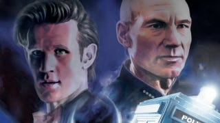 Illustration for article titled In this week's comics, Doctor Who and Star Trek cross universes!
