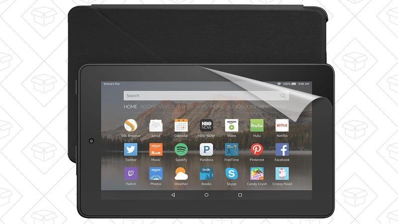 16GB Fire Tablet Essentials Bundle, $60 with code FIREBUNDLE