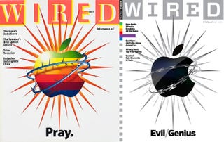 "Illustration for article titled Wired on Apple: ""Pray"" to ""Evil Genius"" in 11 Years"
