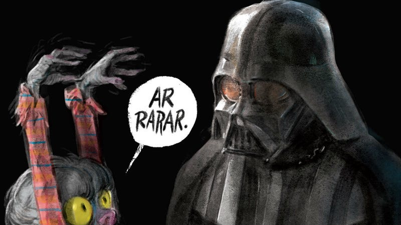Adam Rex wrote and illustrated Are You Scared, Darth Vader?, which is out now.