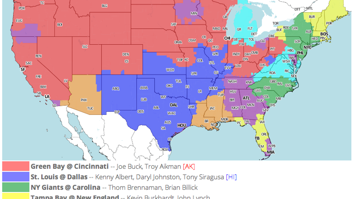 Hoyer Minnesota Map.Which Tv Market S Getting Screwed Today Your Week 3 Nfl Viewing Maps