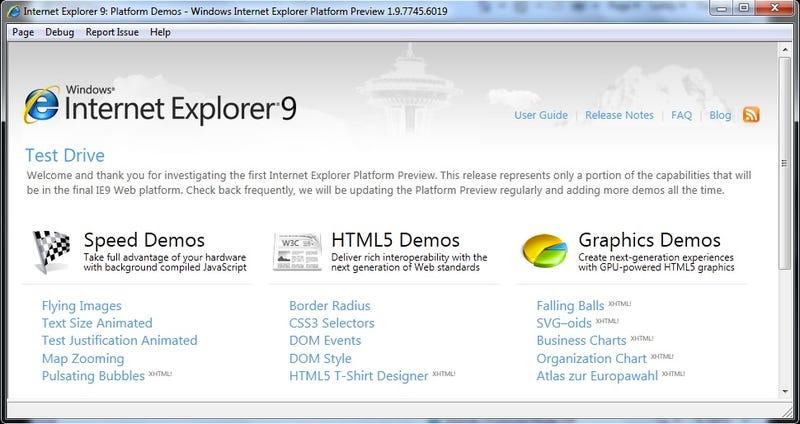 Illustration for article titled Internet Explorer 9: A Fresh Start, With HTML5