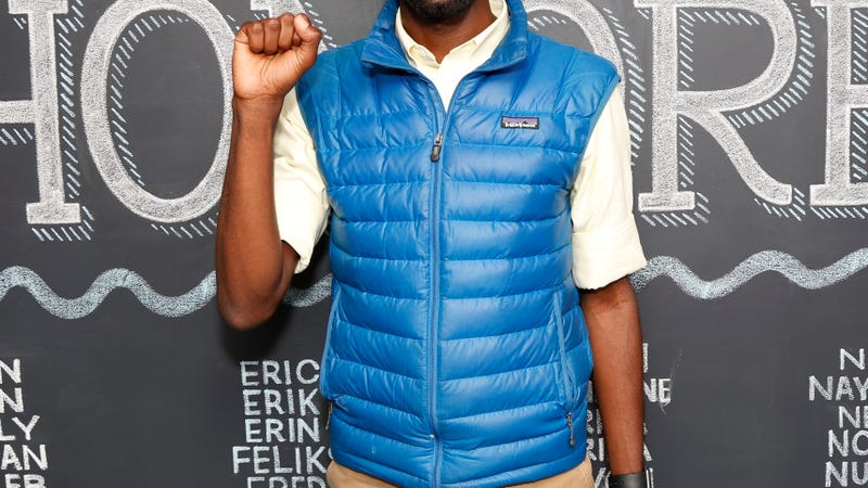 The vest of honoree,  We the Protesters organizer and activist DeRay Mckesson attends the LinkedIn Next Wave event at the Empire State Building on Sept. 9, 2015, in New York City.