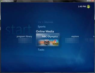 "Illustration for article titled Windows Media Center Offers ""Olympics on the Go"""