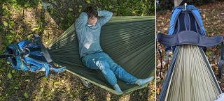 Illustration for article titled A Hammock In a Backpack Is All You Really Need For Camping