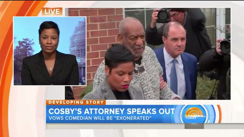 Illustration for article titled Bill Cosby's Lawyer Says His Felony Charge Is Thanks to 'Political Football'