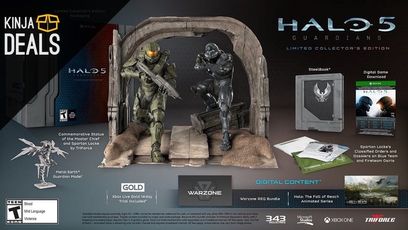 Illustration for article titled Halo 5's Limited Collector's Edition is $150 Off Its Original Price