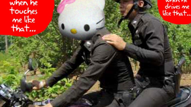 Hello Kitty Used To Punish Thai Police Yes-8867