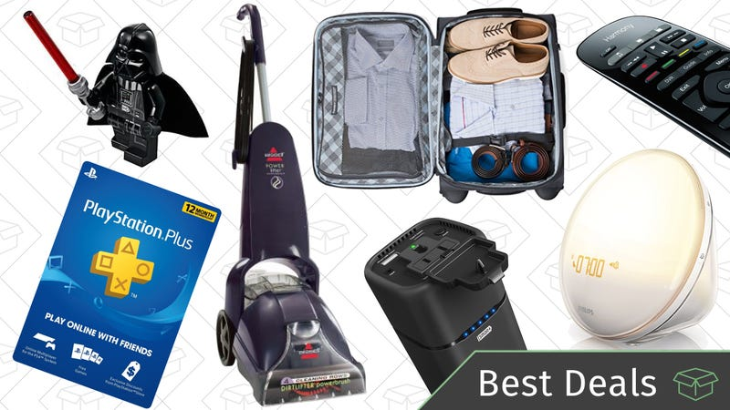 Illustration for article titled Sunday's Best Deals: Luggage, Wake-Up Lights, Logitech Harmony, and More