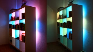 Illustration for article titled Beautify Your Bookcases with Custom Color Changing Lights