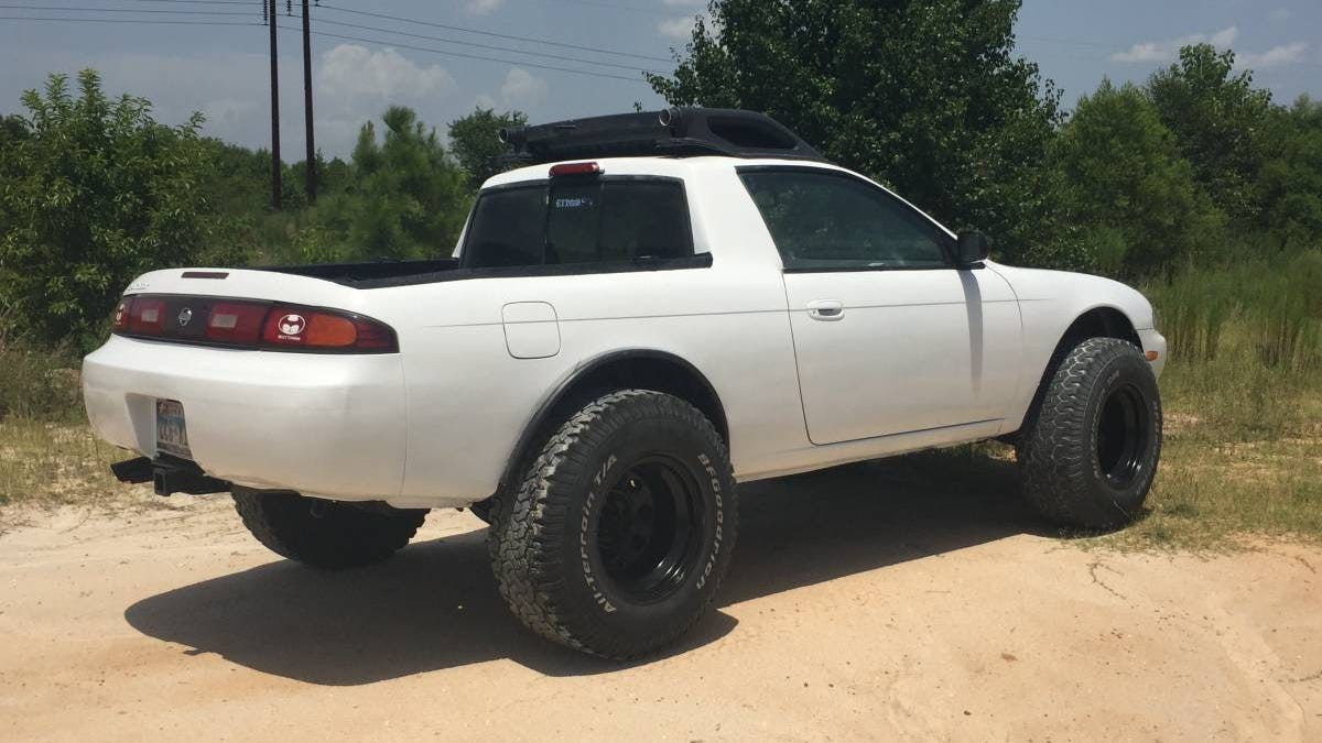 Somebody Built A Lifted Nissan 240sx Truck