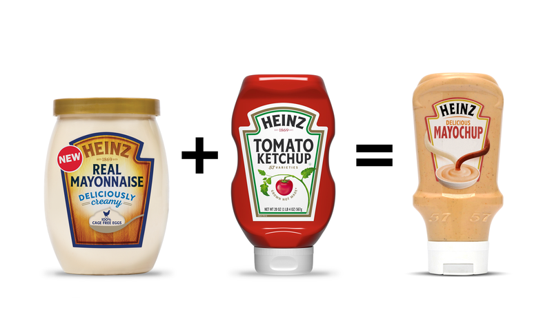 "Illustration for article titled Heinz creates ""Mayochup"" for those too lazy to mix their ketchup and mayonnaise"