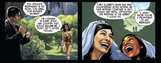 Illustration for article titled Wonder Woman Speaks Out for Marriage Equality ... and Educates Clark Kent in the Process